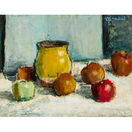 Still Life with Cup and Apples