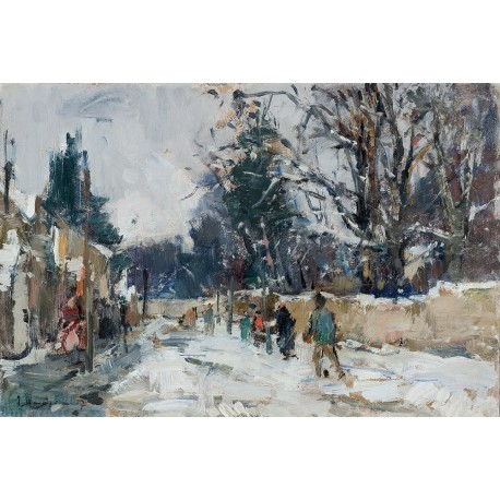 Alley in Winter, 1957