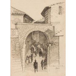 Street from Assisi, 1926