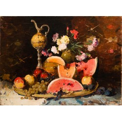 Still Life with Flowers, Fruits and Amphora