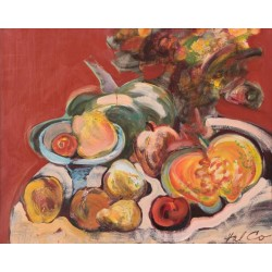 Still Life with Fruits and Pumpkins